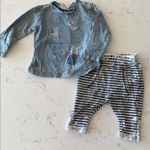 Zara Boys 3 to 6 Month outfit
